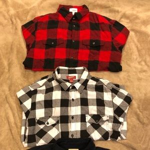 Flannel lot+Corduroy shirt
